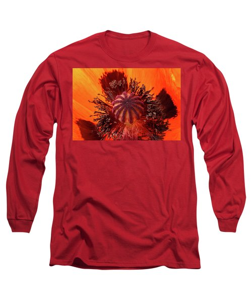 Close-up Bud Of A Red Poppy Flower Long Sleeve T-Shirt