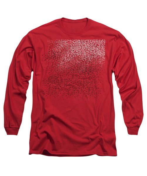 Cloud Of Birds Red Sky Long Sleeve T-Shirt by Sverre Andreas Fekjan