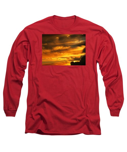 Clouded Sunset Long Sleeve T-Shirt by Kyle West