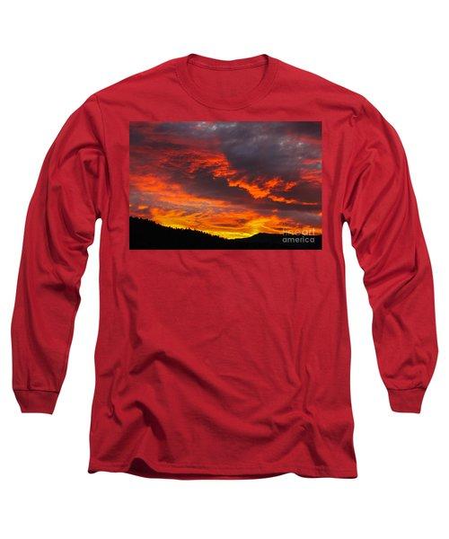 Clouds On Fire Long Sleeve T-Shirt