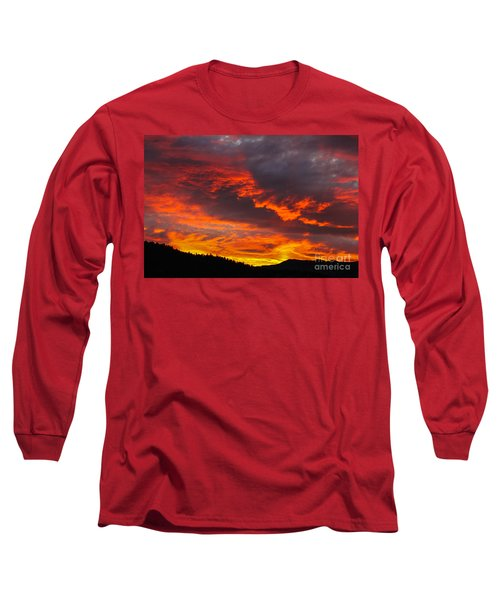 Clouds On Fire Long Sleeve T-Shirt