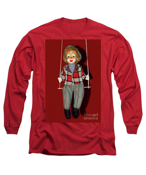 Long Sleeve T-Shirt featuring the photograph Clown On Swing By Kaye Menner by Kaye Menner