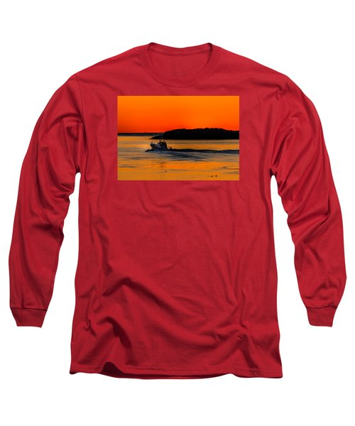 Coast Guard  Long Sleeve T-Shirt by Jerry Cahill