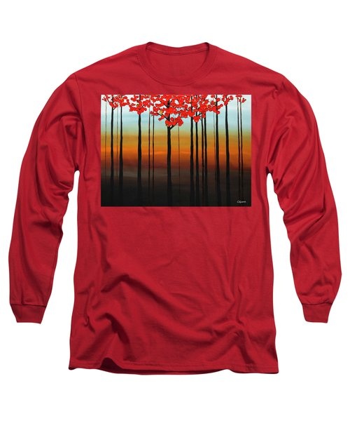 Long Sleeve T-Shirt featuring the painting Coastal Radiance by Carmen Guedez
