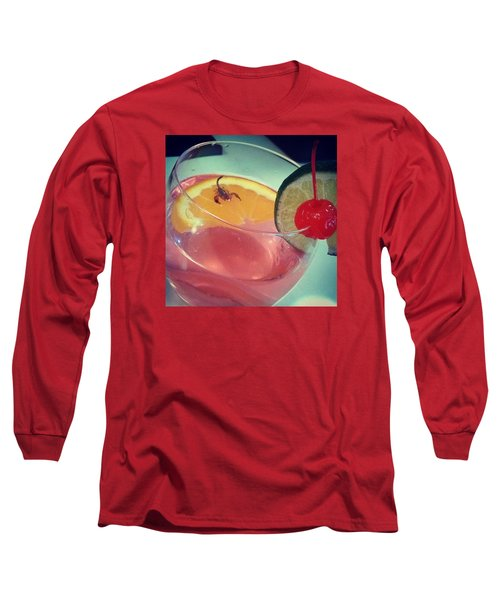 Cocktail With A Bite Long Sleeve T-Shirt by Sacha Kinser