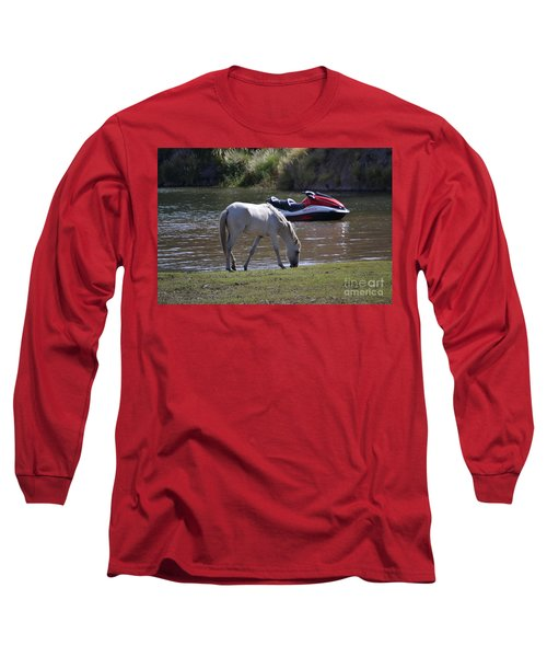 Coexistence Salt River Wild Horses Tonto National Forest Number Two Jet Ski Long Sleeve T-Shirt