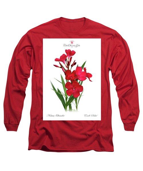 Cog  Nerium Oleander Emile Sahut Long Sleeve T-Shirt