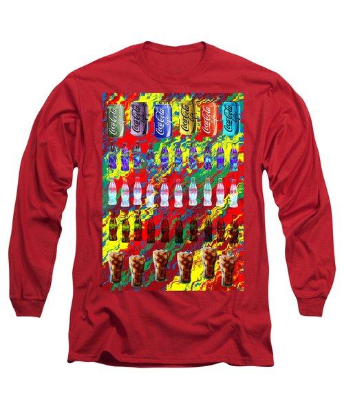 Long Sleeve T-Shirt featuring the digital art Coke Life, Happy Life by Saad Hasnain