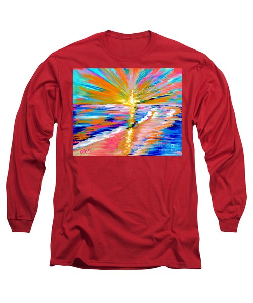 Collection Art For Health And Life. Painting 5. Energy  Of  Life Long Sleeve T-Shirt