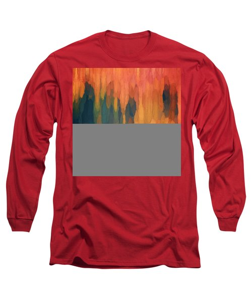 Color Abstraction L Sq Long Sleeve T-Shirt by David Gordon