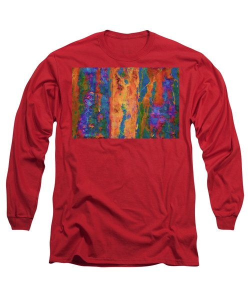 Color Abstraction Lxvi Long Sleeve T-Shirt by David Gordon