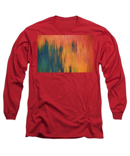 Color Abstraction Xlix Long Sleeve T-Shirt by David Gordon