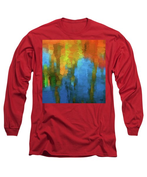 Color Abstraction Xxxi Long Sleeve T-Shirt by David Gordon