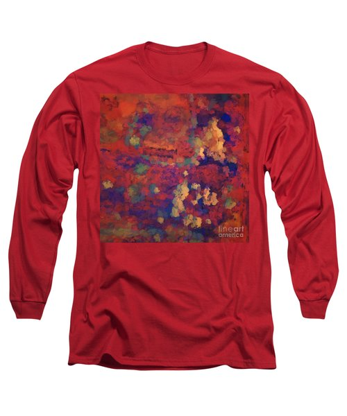 Color Abstraction Xxxv Long Sleeve T-Shirt by David Gordon