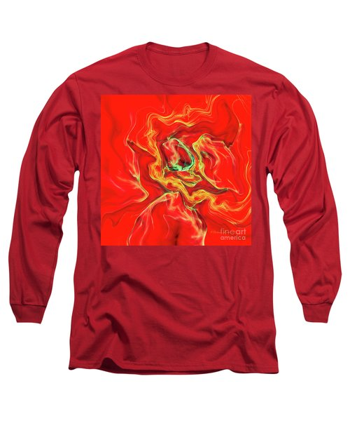 Long Sleeve T-Shirt featuring the digital art Color Blast by Deborah Benoit
