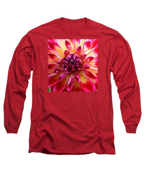 Color Burst Dahlia  Long Sleeve T-Shirt