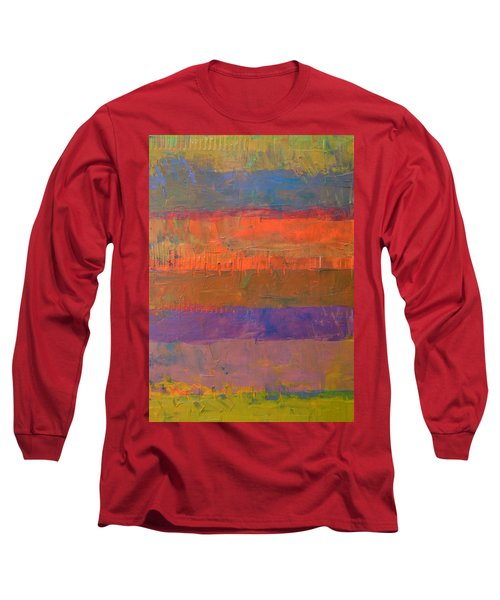 Color Collage Two Long Sleeve T-Shirt by Michelle Calkins