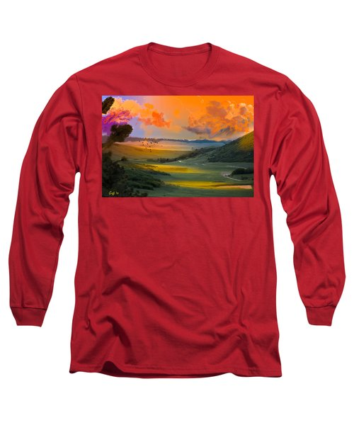 Colorado Big Valley Sunrise Long Sleeve T-Shirt by J Griff Griffin