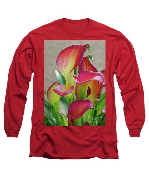 Colorful Calla Lillies Long Sleeve T-Shirt