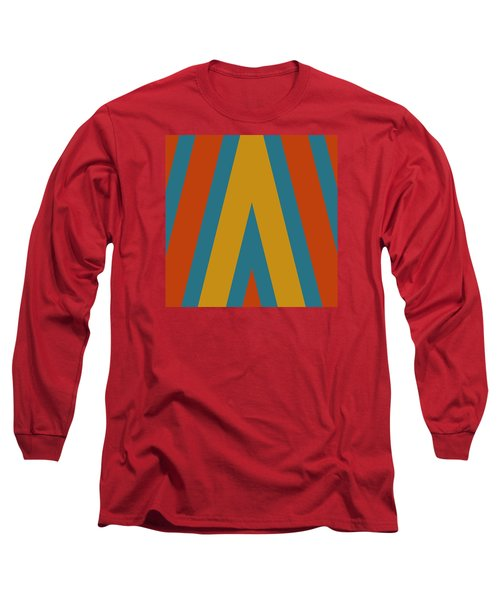 Colorful Chevrons Long Sleeve T-Shirt by Bonnie Bruno