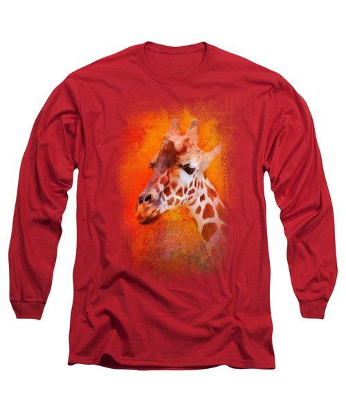 Colorful Expressions Giraffe Long Sleeve T-Shirt