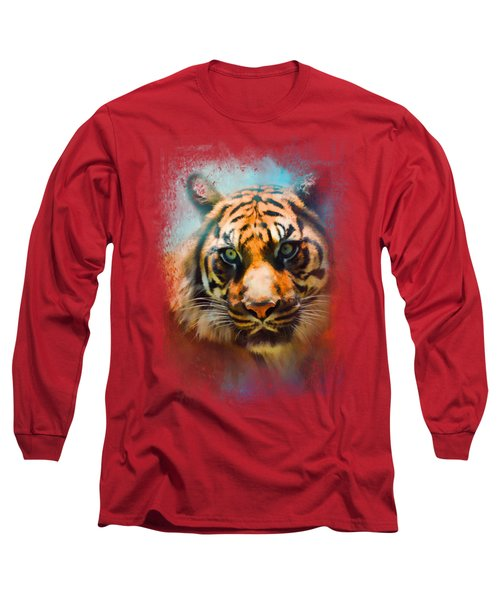 Colorful Expressions Tiger 2 Long Sleeve T-Shirt by Jai Johnson