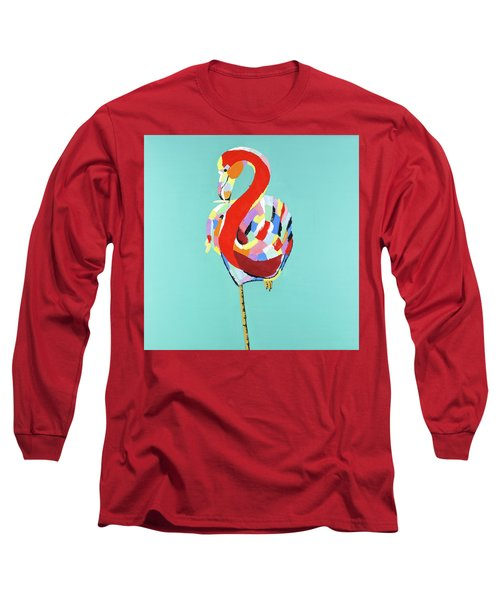 Colorful Flamingo Long Sleeve T-Shirt