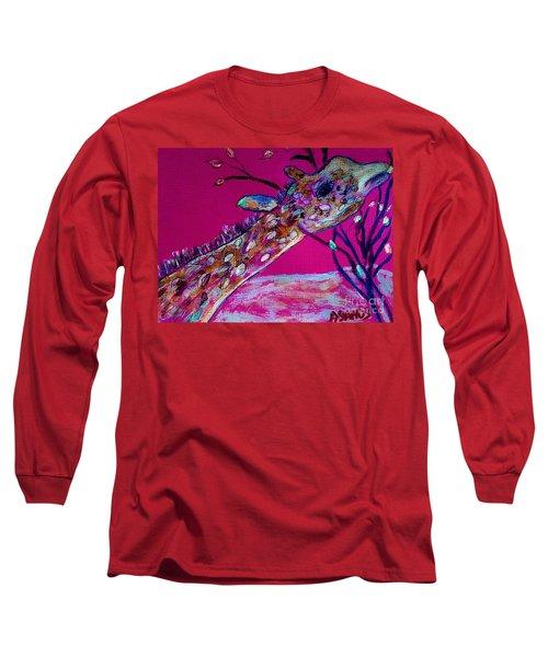 Colorful Giraffe Long Sleeve T-Shirt