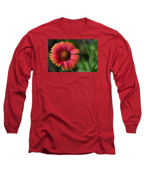 Colorful Indian Blanket Long Sleeve T-Shirt by Kenneth Albin