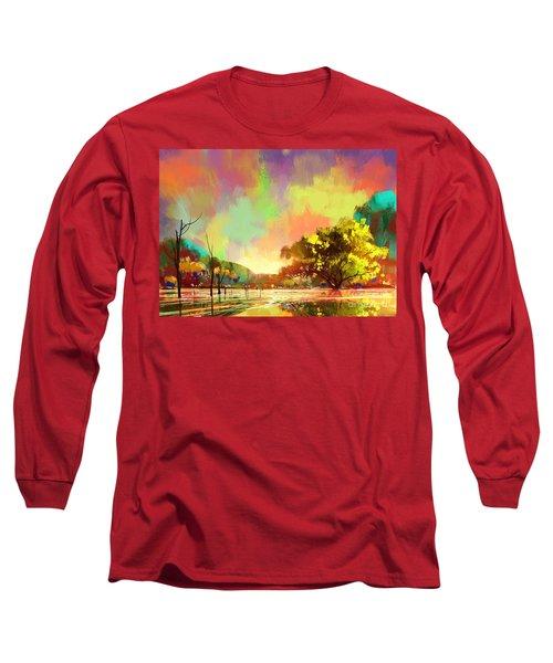 Colorful Natural Long Sleeve T-Shirt