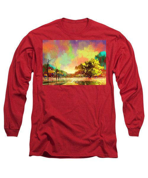 Colorful Natural Long Sleeve T-Shirt