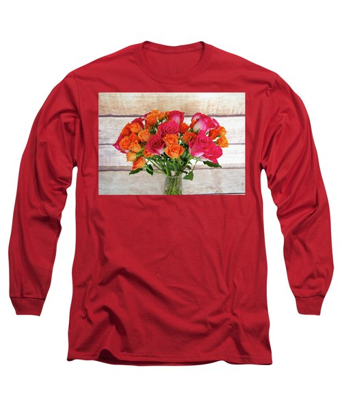 Colorful Rose Bouquet Long Sleeve T-Shirt