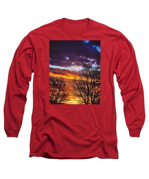 Colorful Skies Long Sleeve T-Shirt by Nikki McInnes