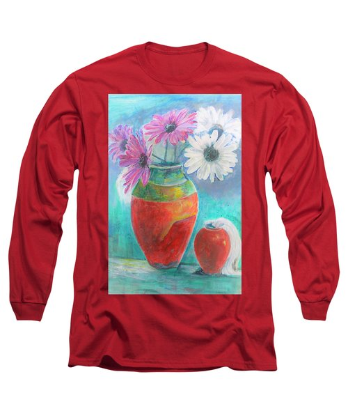 Colorful Vases And Flowers Long Sleeve T-Shirt