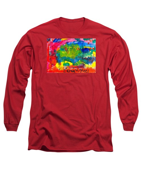 Long Sleeve T-Shirt featuring the painting Colors by Artists With Autism Inc