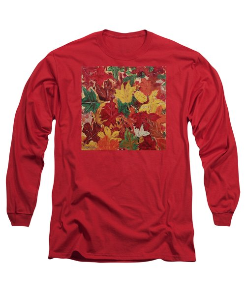 Colors Of October Long Sleeve T-Shirt by Mike Caitham