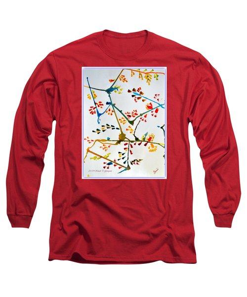 Colourful Blossoms Long Sleeve T-Shirt by Sonali Gangane