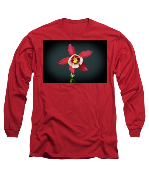 Columbine Flower Long Sleeve T-Shirt