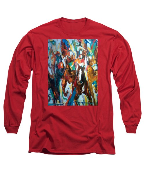 Coming Up Green Long Sleeve T-Shirt by Heather Roddy