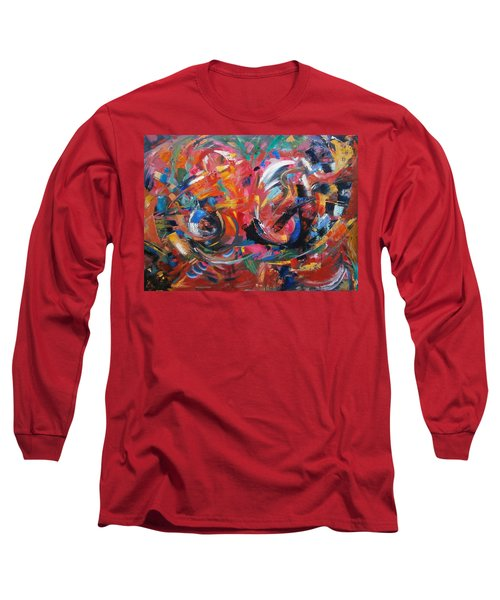 Long Sleeve T-Shirt featuring the painting Committee Action by Gary Coleman