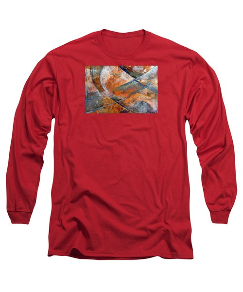 Long Sleeve T-Shirt featuring the painting Composition Hieroglyphe by Walter Fahmy