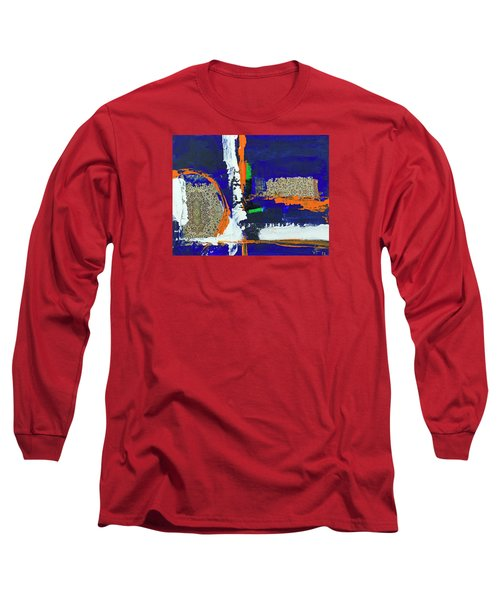 Long Sleeve T-Shirt featuring the painting Composition Orientale No 1 by Walter Fahmy