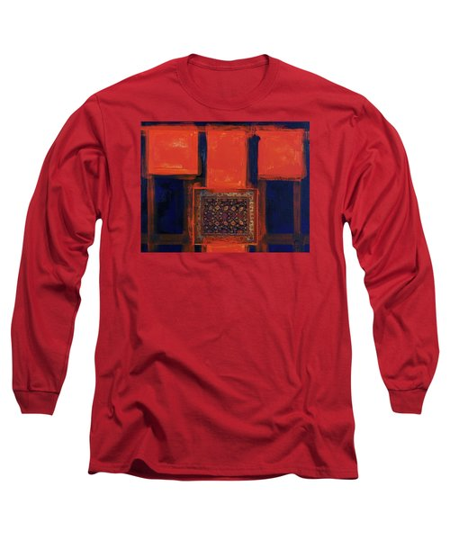 Long Sleeve T-Shirt featuring the painting Composition Orientale No 6 by Walter Fahmy