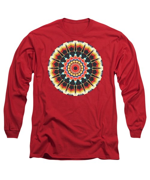 Concentric Balance Of Colors Long Sleeve T-Shirt