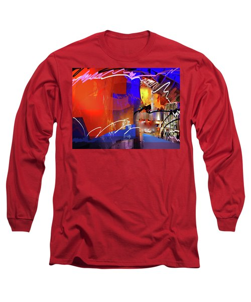 Long Sleeve T-Shirt featuring the digital art Concert Stage by Walter Fahmy
