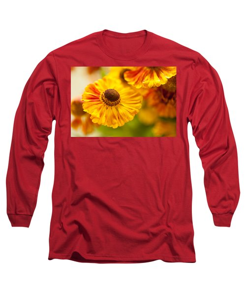 Long Sleeve T-Shirt featuring the photograph Coneflower Macro by Jenny Rainbow