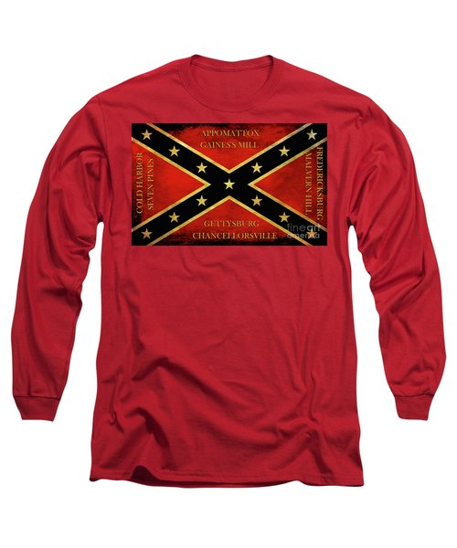 Confederate Battle Flag With Battles Long Sleeve T-Shirt