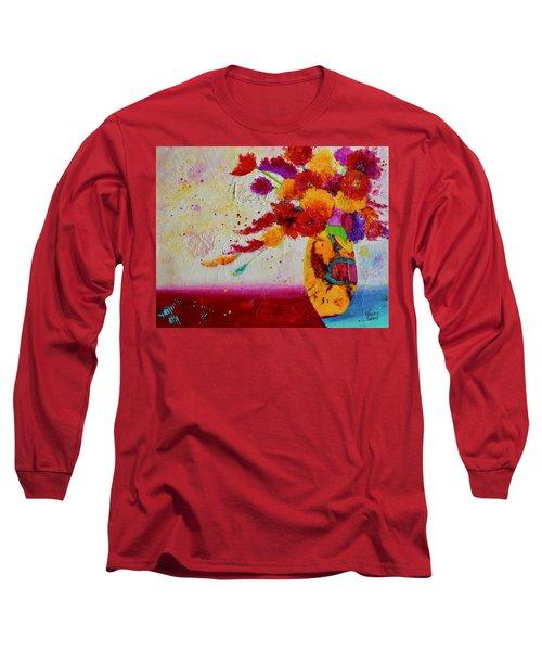 Confetti Long Sleeve T-Shirt by Nancy Jolley
