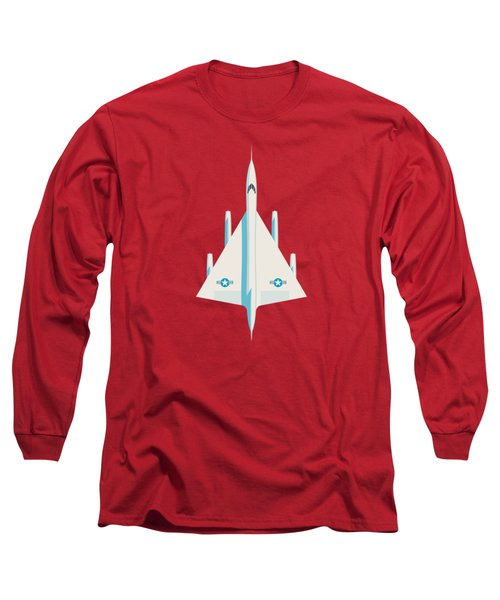 Convair B-58 Hustler Us Air Force Supersonic Jet Bomber - Crimson Long Sleeve T-Shirt