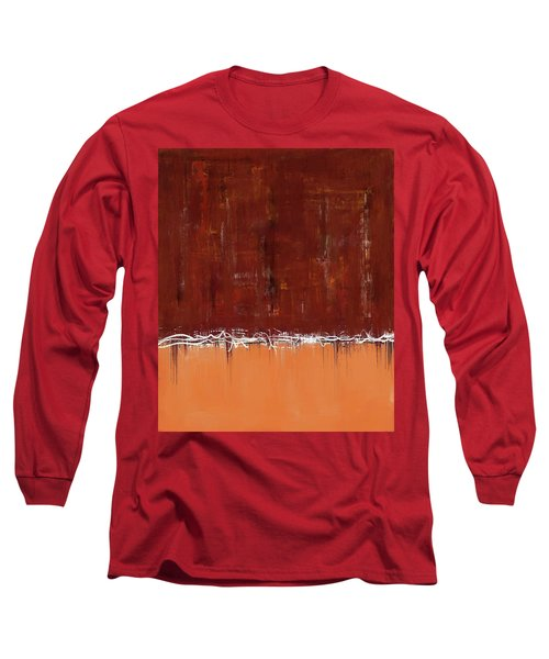 Copper Field Abstract Painting Long Sleeve T-Shirt